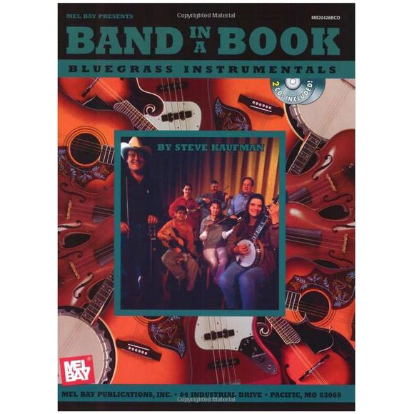 Band In A Book: Bluegrass Instrumentals Book/2-CDs