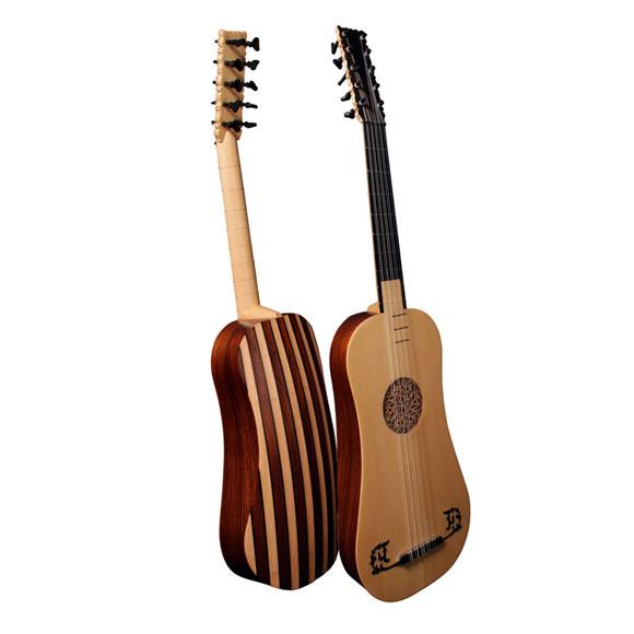 Barockgitarre mit Tasche