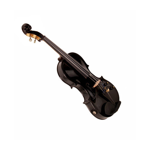 E-Geige - halbakustische Violine schwarz