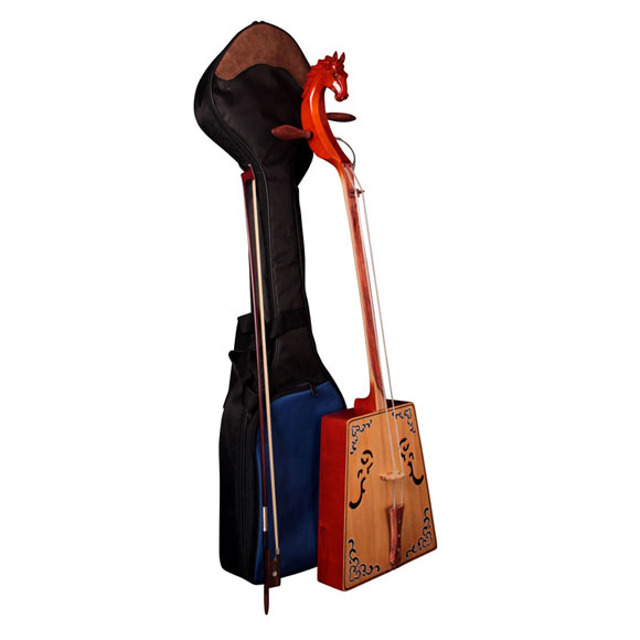 Pferdekopfgeige (Morin chuur) Superior mit Tasche