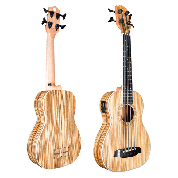 Folkfriends Bass Ukulele ashwood with EQ
