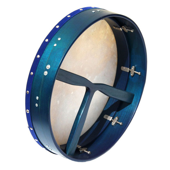 Bodhran tunable 16 blue translucent