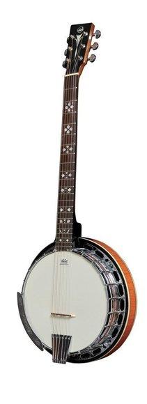 Gitarrenbanjo 6 Saiten VGS Premium mit Koffer