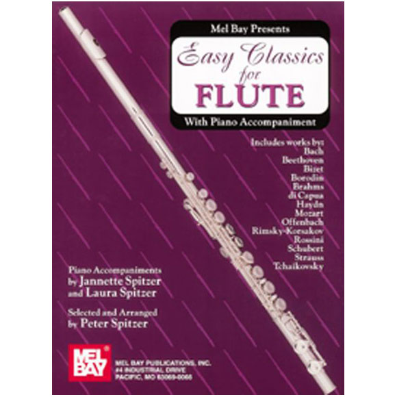 Easy Classics for Flute with Piano Accompaniment