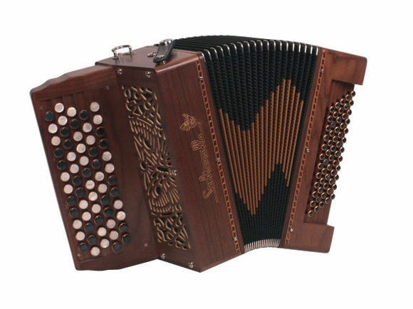 """Saltarelle chromatic Accordion """"Chaville"""" with 5 rows"""