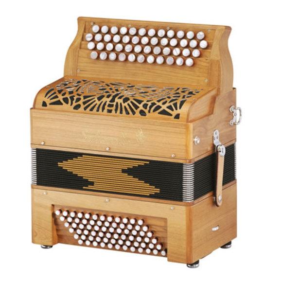 "Saltarelle chromatic accordion ""Bourroche"" four rows"