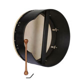 Tunable Bodhran with deep rim, black